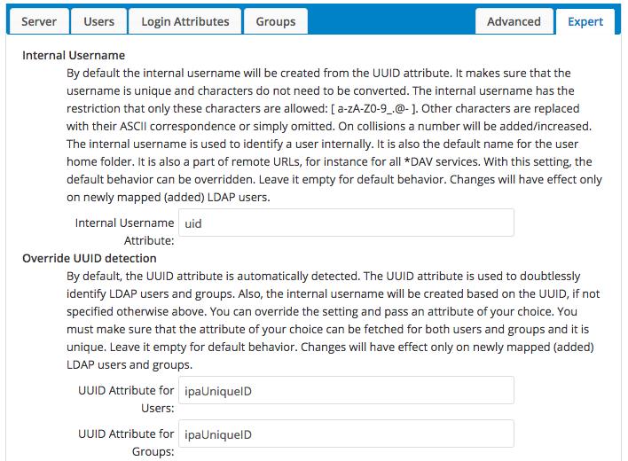 LDAP Server Expert Configuration